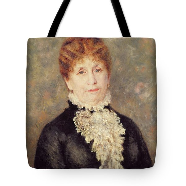 Madame Eugene Fould Tote Bag by Pierre Auguste Renoir