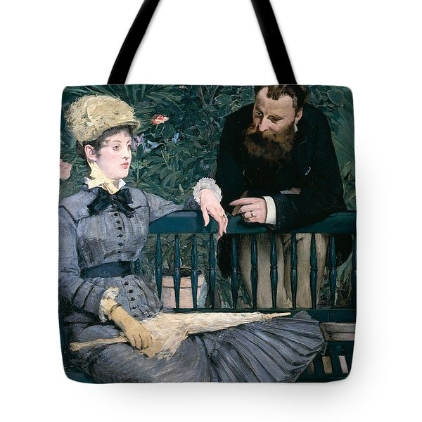 Madame Manet In Greenhouse Tote Bag by Edouard Manet