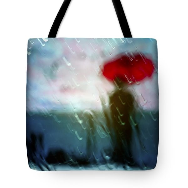 Madame With Umbrella Tote Bag