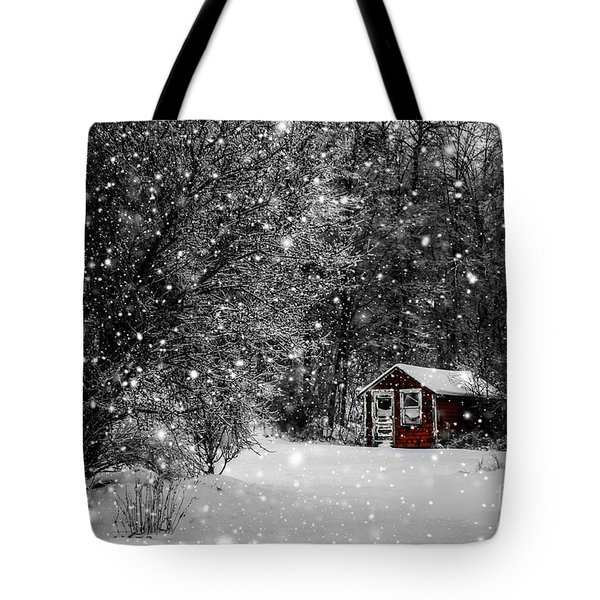 Made In Maine Winter  Tote Bag by Brenda Giasson