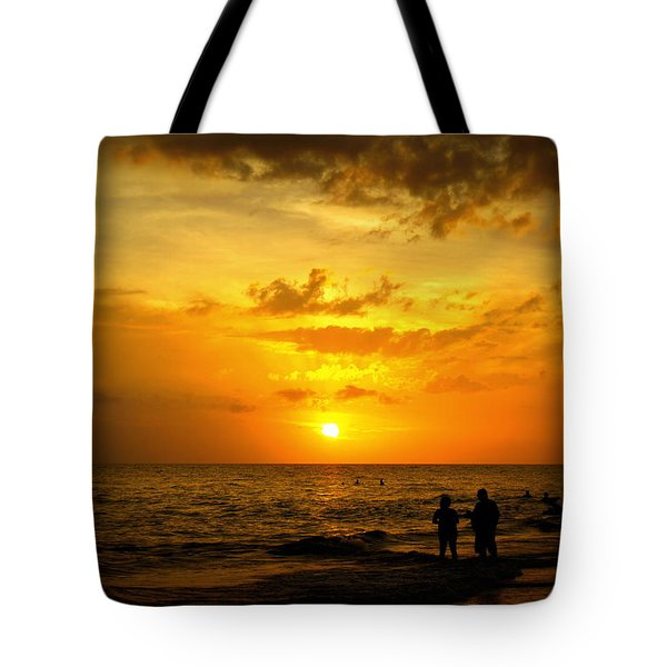Tote Bag featuring the photograph Madeira Sunset by Laurie Perry