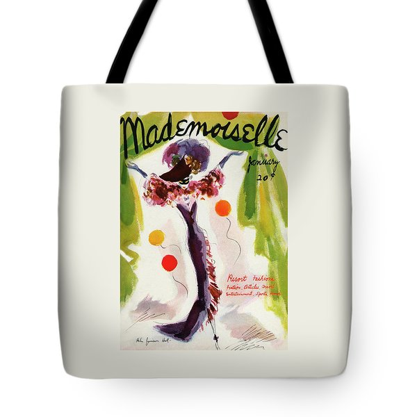 Mademoiselle Cover Featuring A Model Wearing Tote Bag