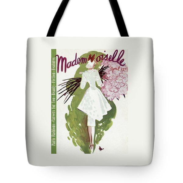 Mademoiselle Cover Featuring A Woman Carrying Tote Bag