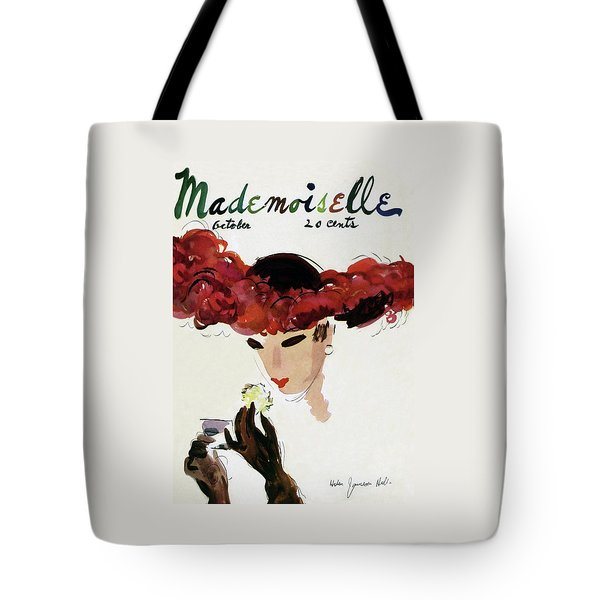 Mademoiselle Cover Featuring A Woman In A Red Tote Bag