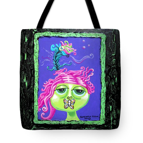 Mademoiselle Flutterby Tote Bag by Genevieve Esson