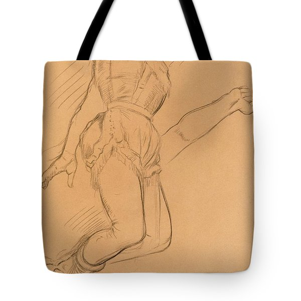 Mademoiselle La La At The Circus Fernando Tote Bag by Edgar Degas