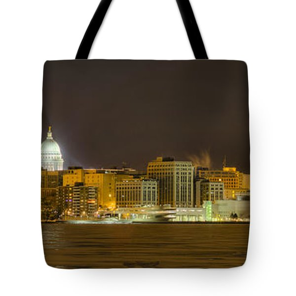 Madison - Wisconsin City  Panorama - No Fireworks Tote Bag by Steven Ralser