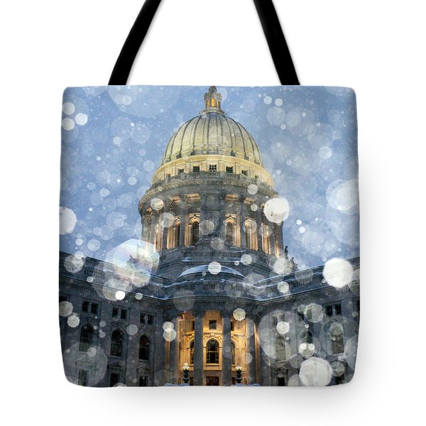 Tote Bag featuring the photograph Madisonian Winter by Todd Klassy