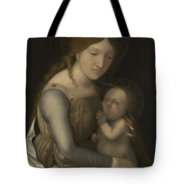 Madonna And Child Tote Bag by Andrea Mantegna