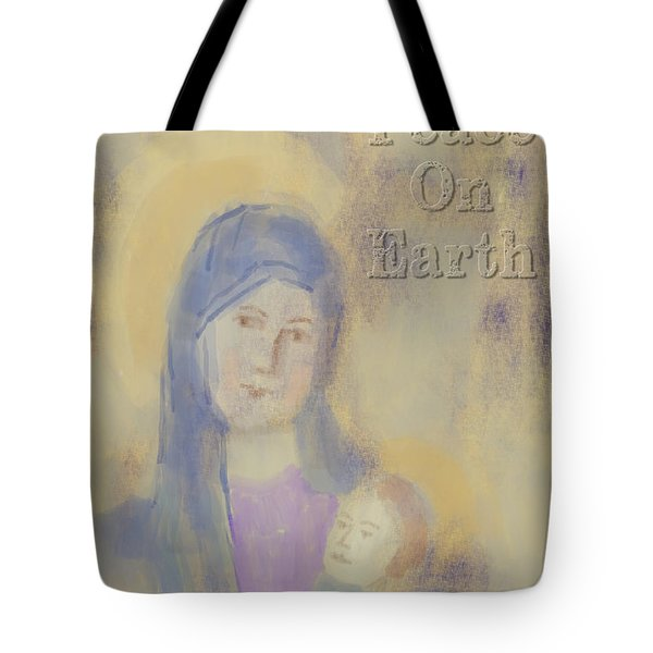 Tote Bag featuring the digital art Madonna And Child by Arline Wagner