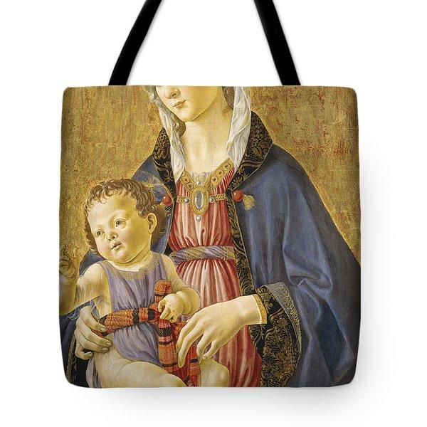 Madonna And Child Tote Bag by Domenico Bigordi Domenico Ghirlandaio