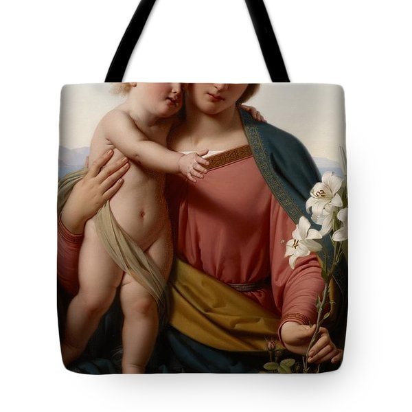 Madonna And Child Tote Bag by Franz Ittenbach