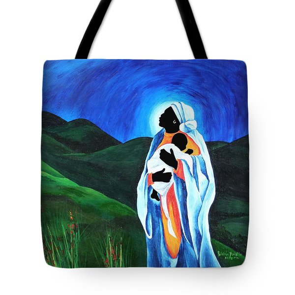 Madonna And Child  Hope For The World Tote Bag