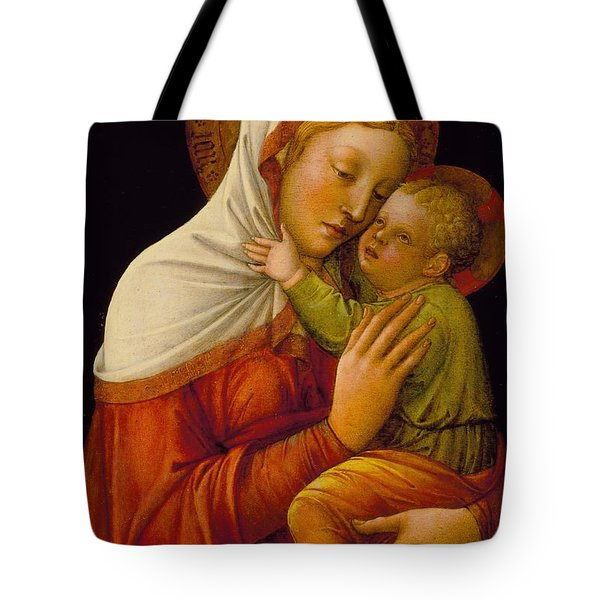 Madonna And Child Tote Bag by Jacob Bellini