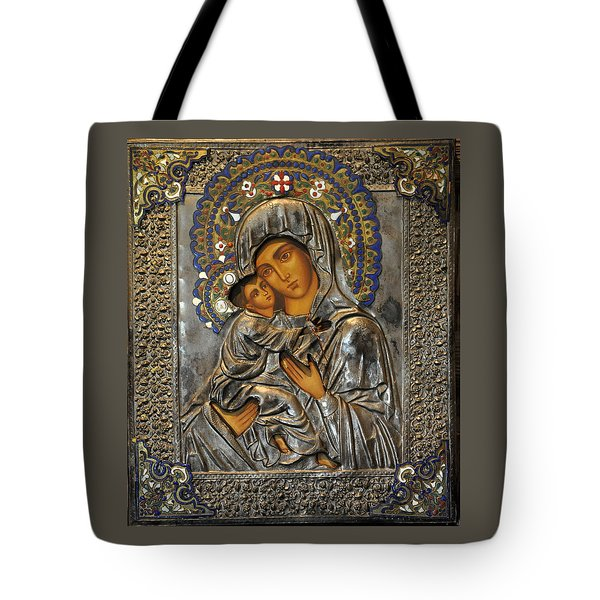 Madonna And Child Tote Bag by Jay Milo