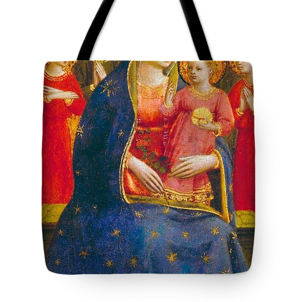 Madonna And Child With Angels Tote Bag by Fra Angelico