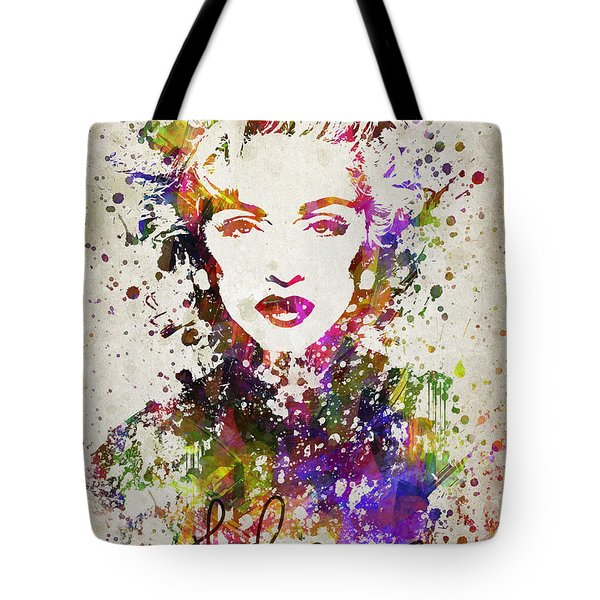 Madonna In Color Tote Bag