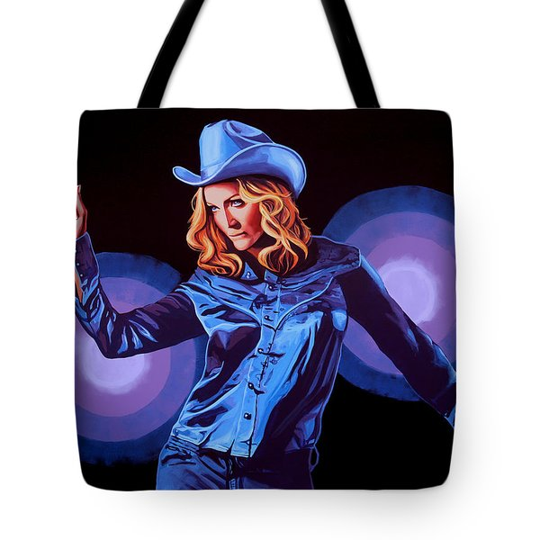 Madonna Painting Tote Bag