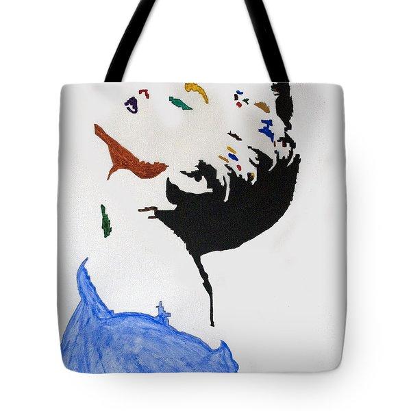 Madonna True Blue Tote Bag by Stormm Bradshaw