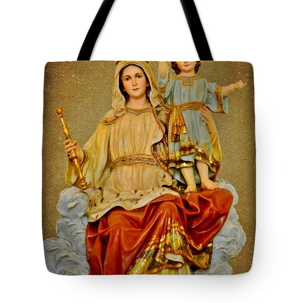Tote Bag featuring the photograph Madonna With Child by Christine Till