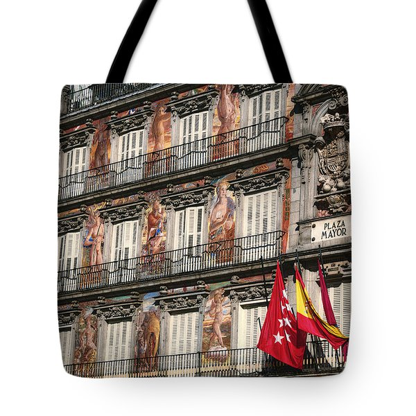 Madrid Murals Tote Bag by Joan Carroll