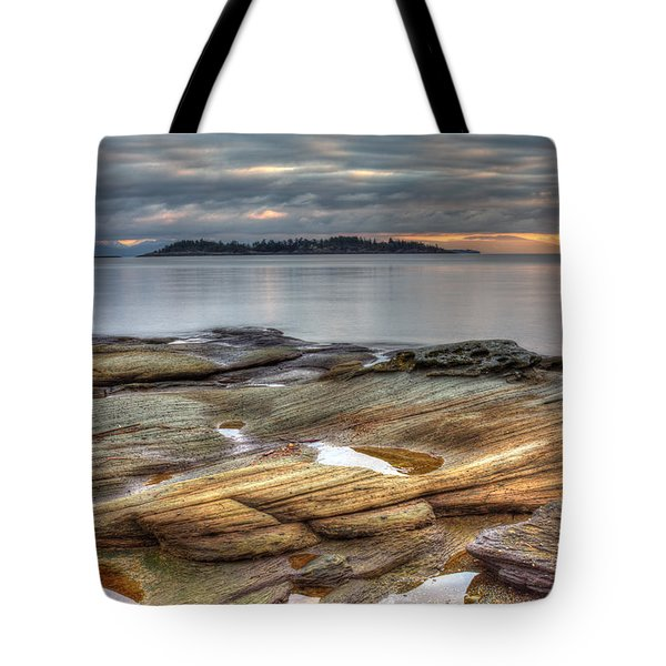 Madrona Sunrise Tote Bag by Randy Hall