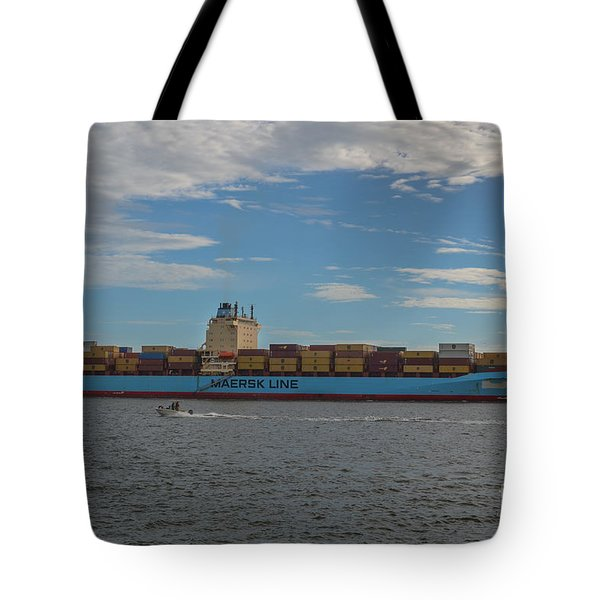 Ocean Going Freighter Tote Bag