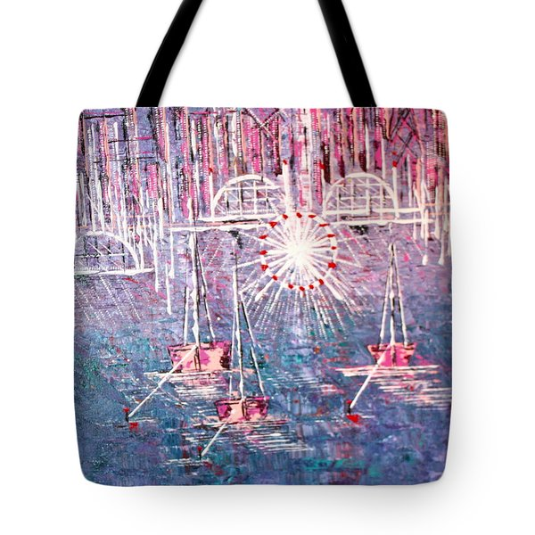 Belmont Turn Magenta Chicago Tote Bag