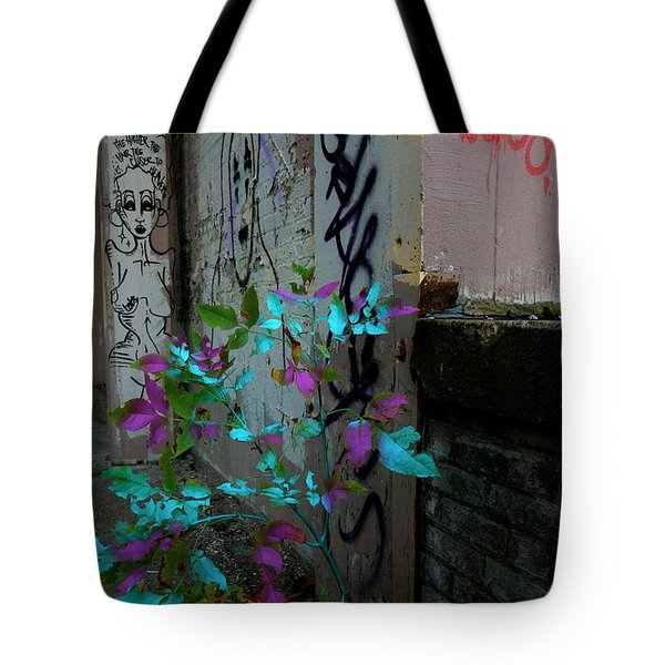 Magenta Cyan And Babs Tote Bag by Jacqueline Athmann