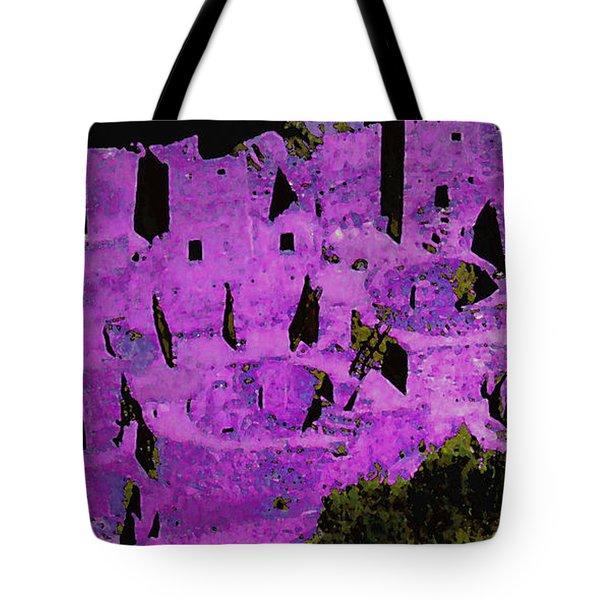Magenta Dwelling Tote Bag
