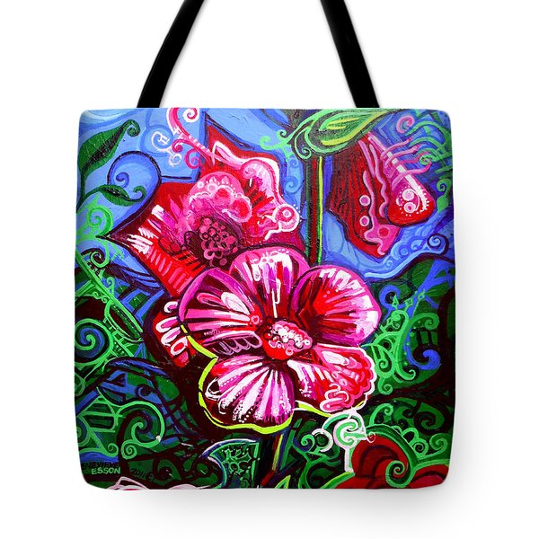 Magenta Fleur Symphonic Zoo I Tote Bag by Genevieve Esson