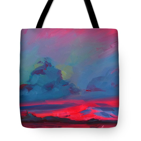 Magenta Landscape Tote Bag by Patricia Awapara