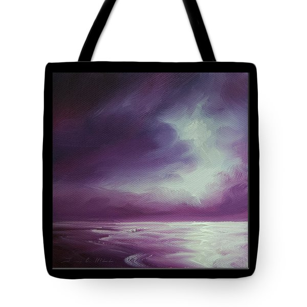 Magenta Moon Iv Tote Bag by James Christopher Hill