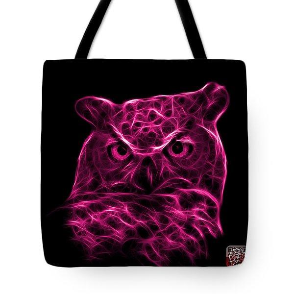 Magenta Owl 4436 - F M Tote Bag by James Ahn