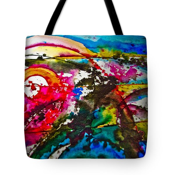 Magenta Spiral Tote Bag by Adria Trail