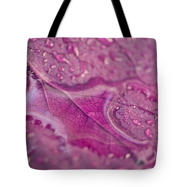 Magenta Veins  Tote Bag by Priya Ghose