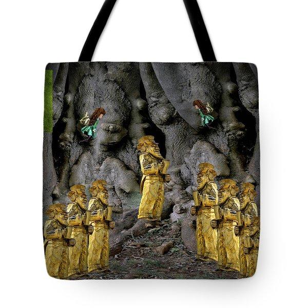 Magic As The Tree People Celebrate Health Tote Bag by LeeAnn McLaneGoetz McLaneGoetzStudioLLCcom