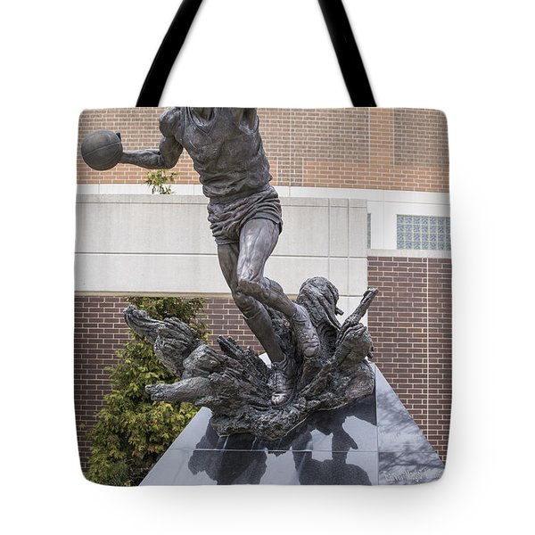 Magic Johnson Statue At Breslin  Tote Bag by John McGraw