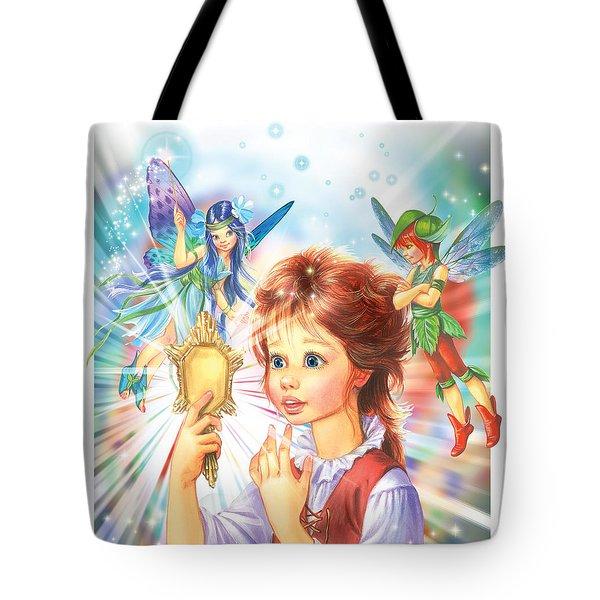 Magic Mirror Tote Bag by Zorina Baldescu