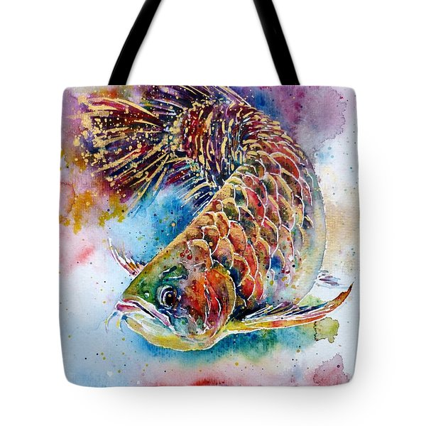 Magic Of Arowana Tote Bag by Zaira Dzhaubaeva