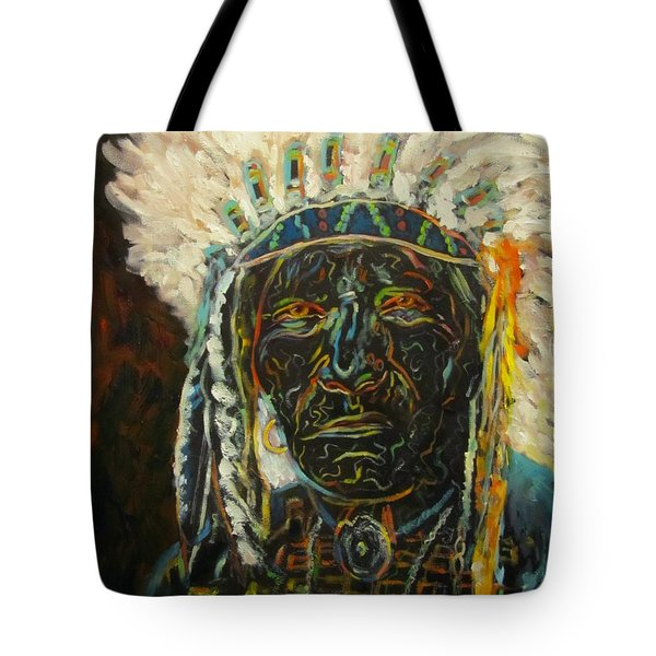 Magic Powers,  Native American Indian Chief Tote Bag