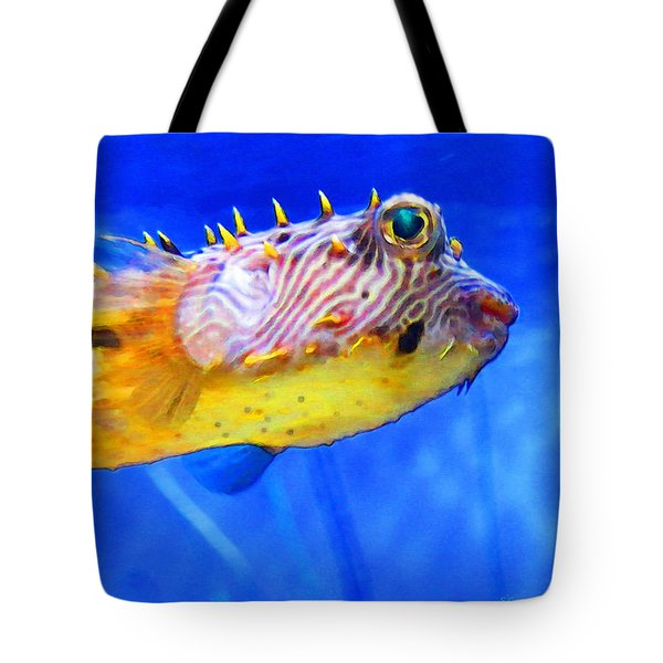 Magic Puffer - Fish Art By Sharon Cummings Tote Bag by Sharon Cummings