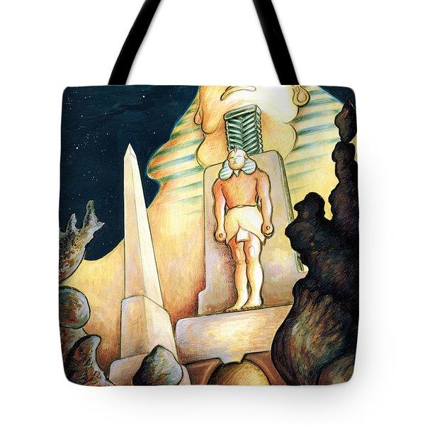 Magic Vegas Sphinx - Fantasy Art Painting Tote Bag