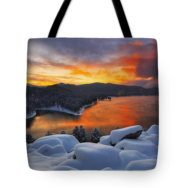 Tote Bag featuring the photograph Magic Sunset by Kadek Susanto