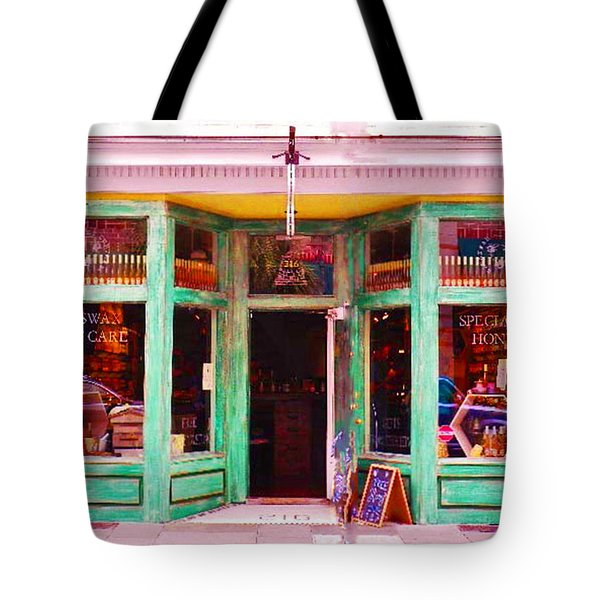Magical Beeswax Shop Tote Bag by Patricia Greer