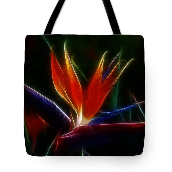 Magical Bird Of Paradise Tote Bag by Sandra Bronstein