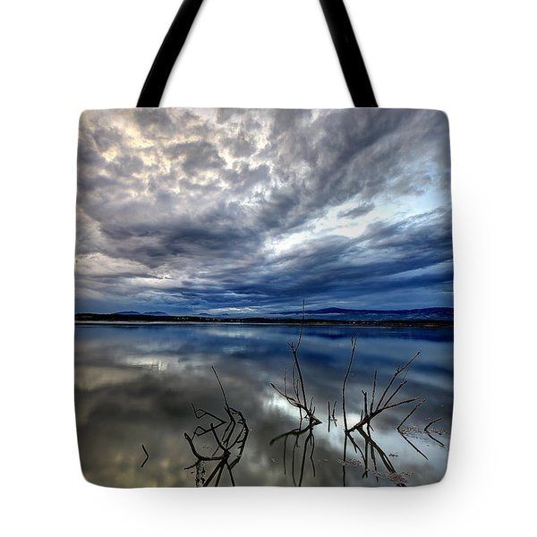 Magical Lake - Vertical Tote Bag