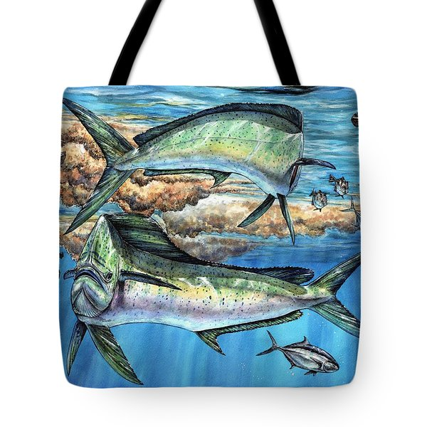 Magical Mahi Mahi Sargassum Tote Bag