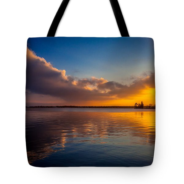 Tote Bag featuring the photograph Magical Reflections Of Sundown by Julis Simo