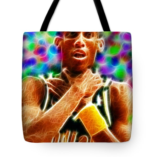 Magical Reggie Miller Choke Tote Bag by Paul Van Scott